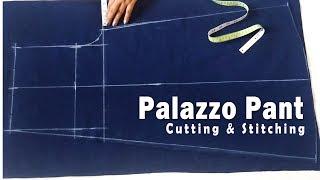 Palazzo Pant Cutting & Stitching    Designer Palazzo Sewing Tutorial