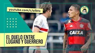 El caliente duelo entre Lugano y Guerrero | Sao Paulo 0-0 Flamengo (Brasileirao 2016)