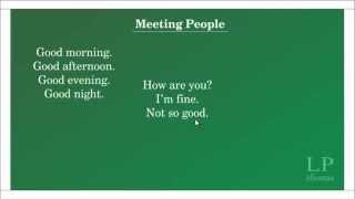 Inglês básico 1: Meeting people.