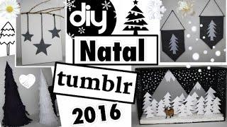 DIY - DECORAÇÃO DE NATAL TUMBLR 2016  - ROOM DECOR - Eduardo Wizard