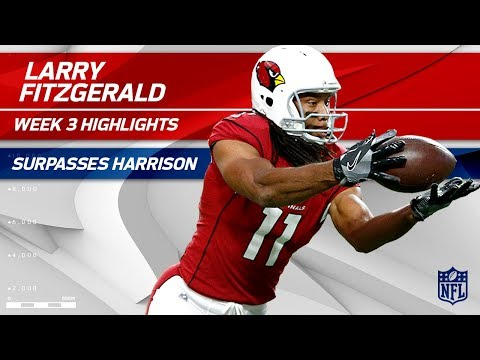 Larry Fitzgerald Makes Spectacular Plays & Climbs the NFL Record Books! 🏆 | Wk 3 Player Highlights