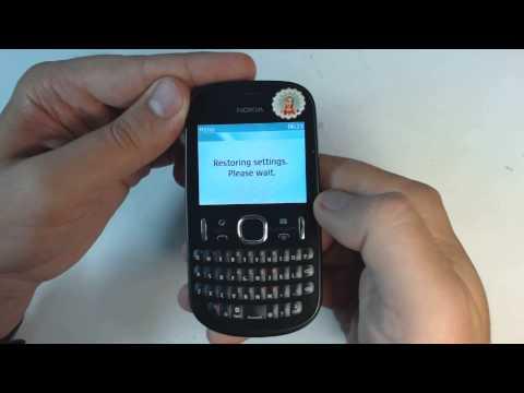 Nokia Asha 201 - How to reset - Como restablecer datos de fabrica