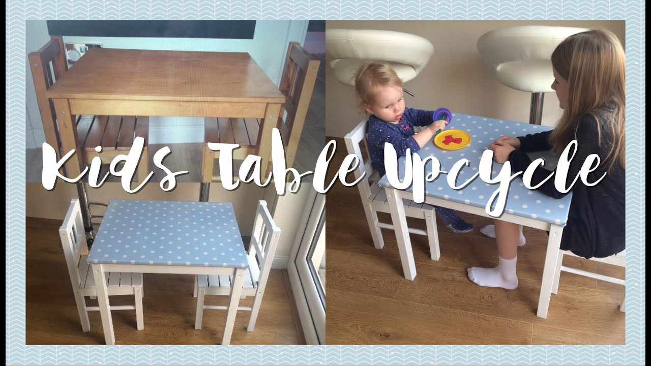 diy upcycle | kids table and chairs - youtube