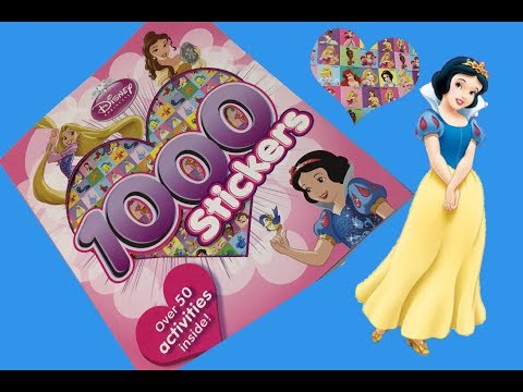 Disney Princess 1000 Stickers & Activity book💕⭐️Part 3 Disney Princess Snow White 💙