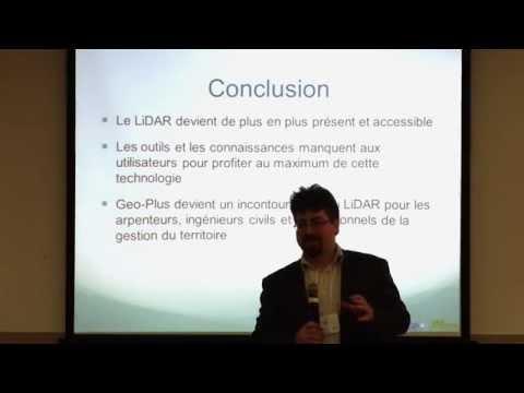 Géomatique 2015 - Geo-Plus L'utilisation des données LiDAR