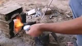 литье алюминия в цемент(литье алюминия формовочную смесь состоящую из цемнента и тормозной жидкости., 2014-02-10T20:25:14.000Z)