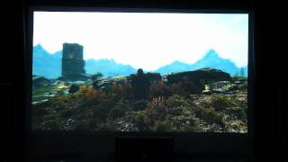 Skyrim [PC] on BenQ W1200 DLP Full HD projector