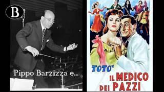 """Pippo Barzizza e il cinema. I titoli di testa de """"Il medico dei pazzi"""", 1954."""