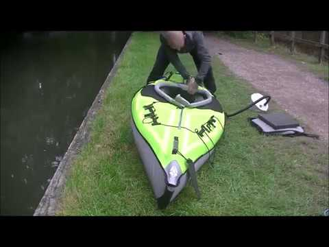 ADVANCED ELEMENTS INFLATABLE KAYAK/WILD CAMP/HAMMOCK/BASINGSTOKE CANAL