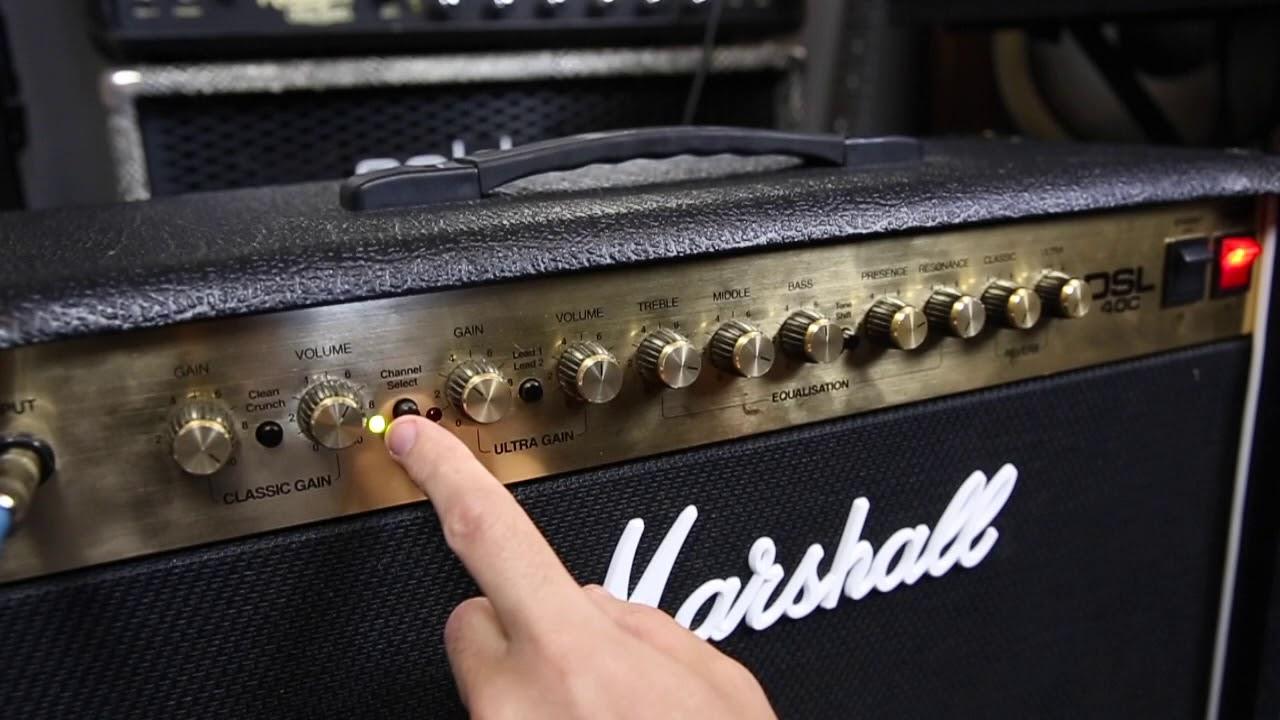 Marshall DSL 40C Tones