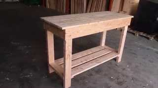 Wooden Workbench 1 inch Top