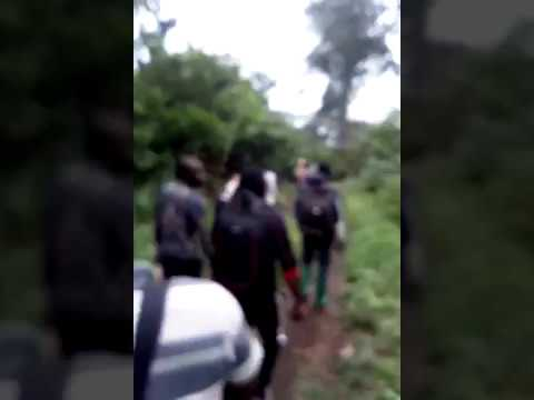 20180429 Internally displaced people fleeing into the bush from village of Bafia
