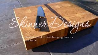 How to make a Solid Oak and American Black Walnut  End Grain Chopping Board