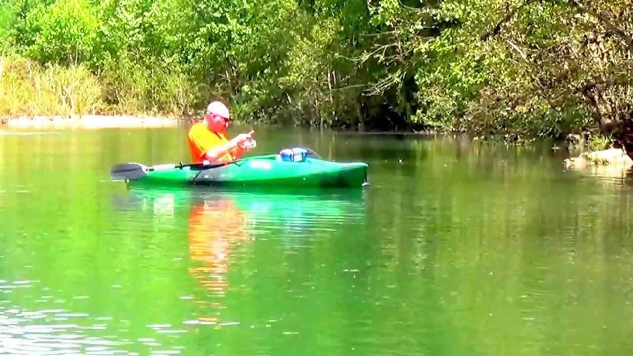 Jacks fork river small mouth kayak fishing youtube for River fishing kayak