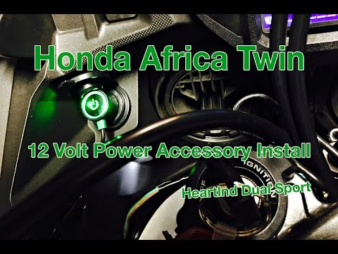 Honda Africa Twin, 12 Volt Accessory Outlet, Install Video, CRF1000L