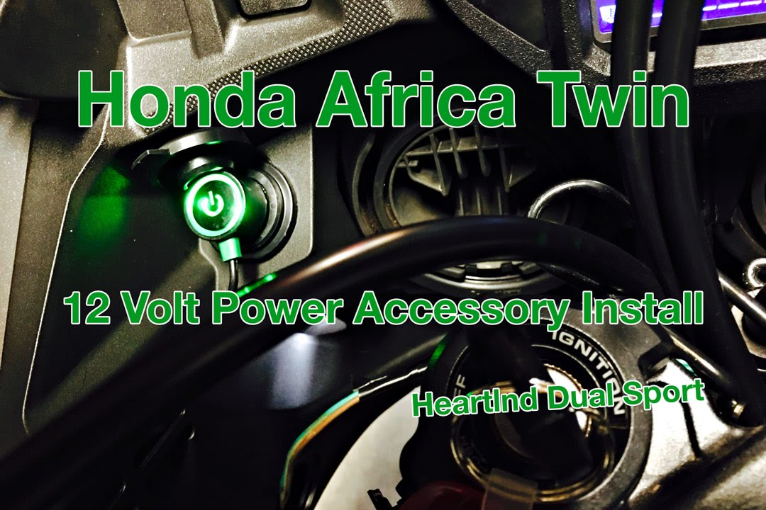 Honda Africa Twin, 12 Volt Accessory Outlet, Install Video, CRF1000L -  YouTubeYouTube