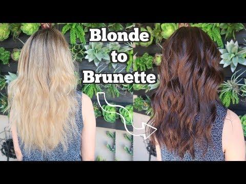Blonde with dark pussy hair