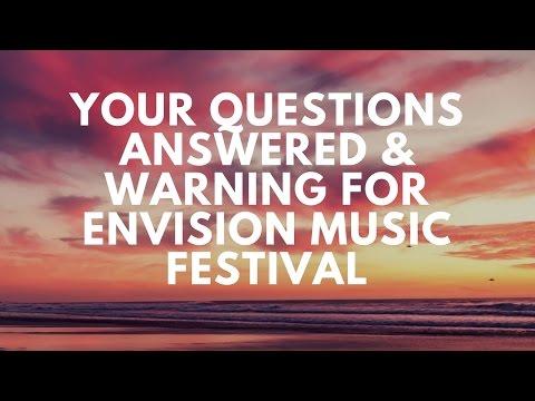Prepare & Plan for Envision Music & Yoga Festival Questions Answered - Costa Rica 2017
