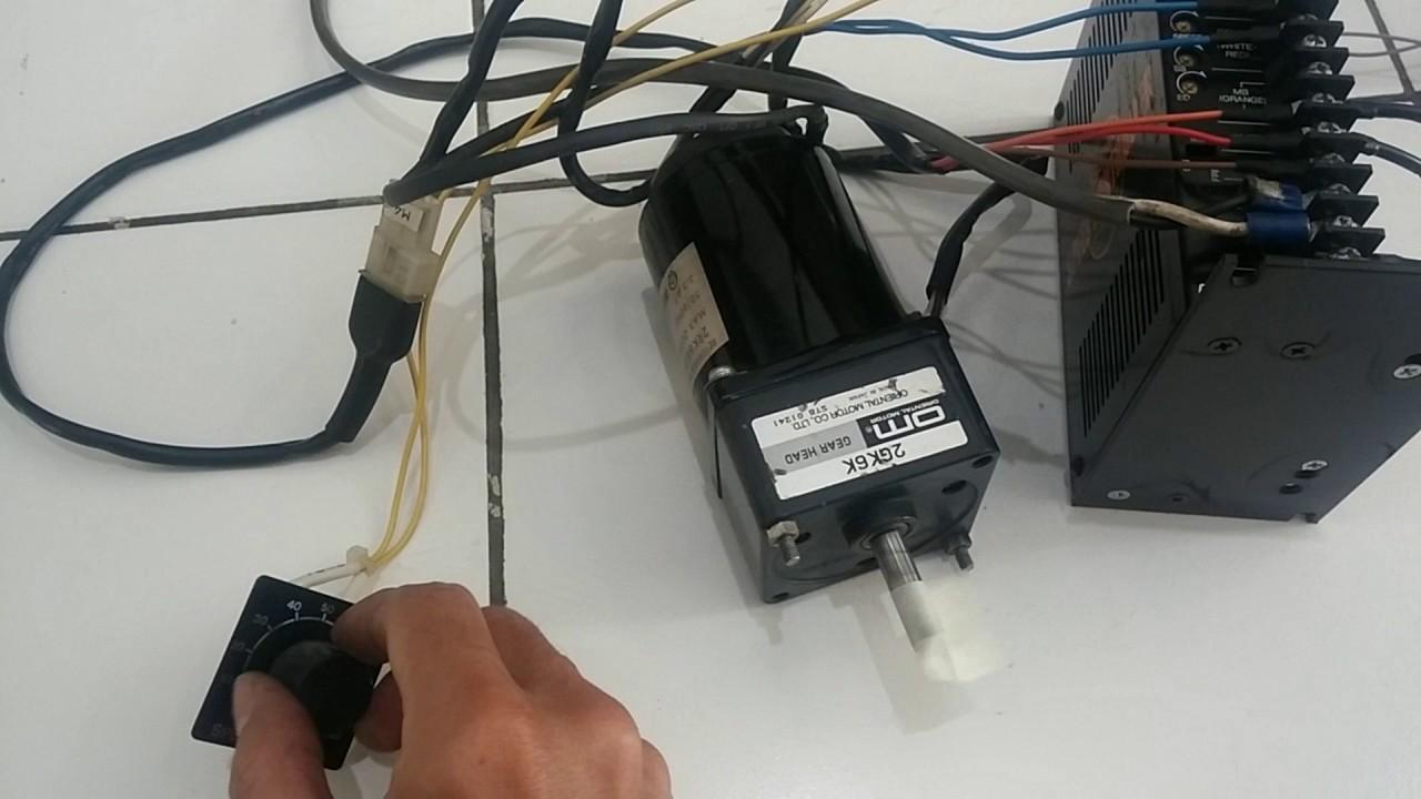 medium resolution of test run oriental motor reversible motor 2rk6rgk a2 gearhead 2gk6k oriental motor wiring diagram