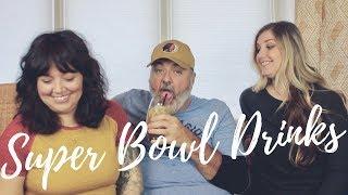 SUPER BOWL DRINKS | Patriots vs. Eagles | + Super Bowl Drinking Games