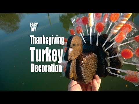 DIY Wood Turkey Thanksgiving Lollipop decoration
