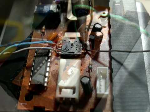 Hack an optical mouse into a camera with Arduino and Processing