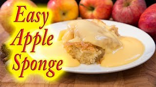 Apple sponge and custard