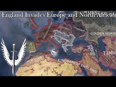 Medieval England is OP! (Hoi4 Europa Universalis Mod Speedrun/Timelapse)