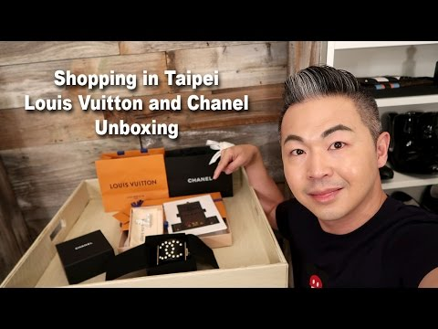 Louis Vuitton Chanel Unboxing from Taipei