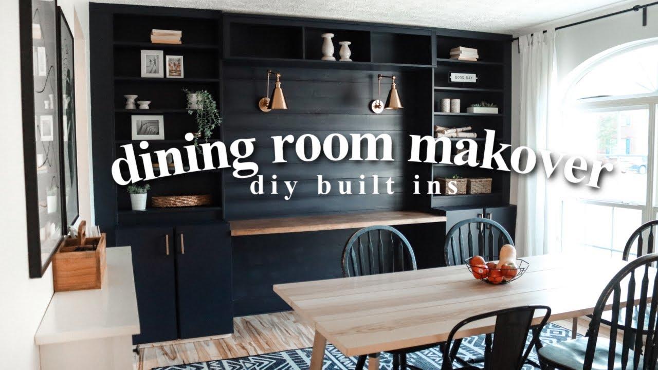 Extreme Dining Room Makeover Diy, Dining Room Built Ins