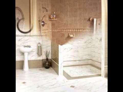 Bathroom shower tile design ideas - YouTube