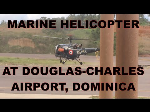 Marine Helicopter at Douglas-Charles Airport, Dominica