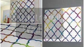 DIY: Quatrefoil Wall Art ♡ {Art for the Non-Artist} ♡ Jessica Joaquin