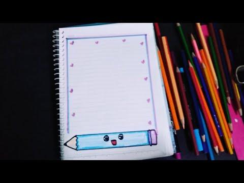 تزين دفتر على شكل قلم سهل و جميل 🖊️🖊️❤️❤️