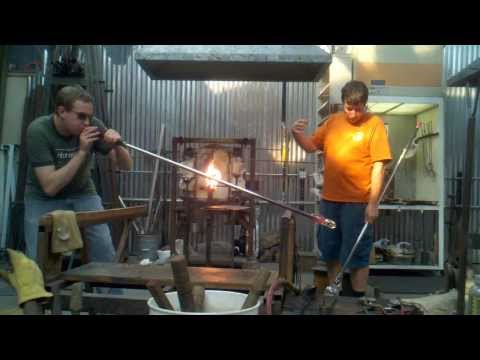 video:Chris Johnson Open Studio glass blowing demo, October 19, 2013