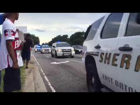 East Baton Rouge Sheriff's Decend on Baton Rouge Police Brutality Protests 10/07/2016