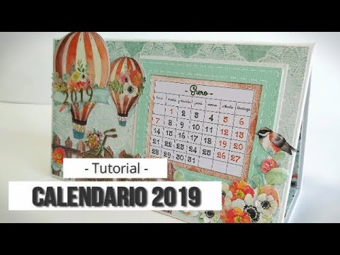 CALENDARIO 2019 SENCILLO (CON MAS SCRAP) - TUTORIAL | LLUNA NOVA SCRAP