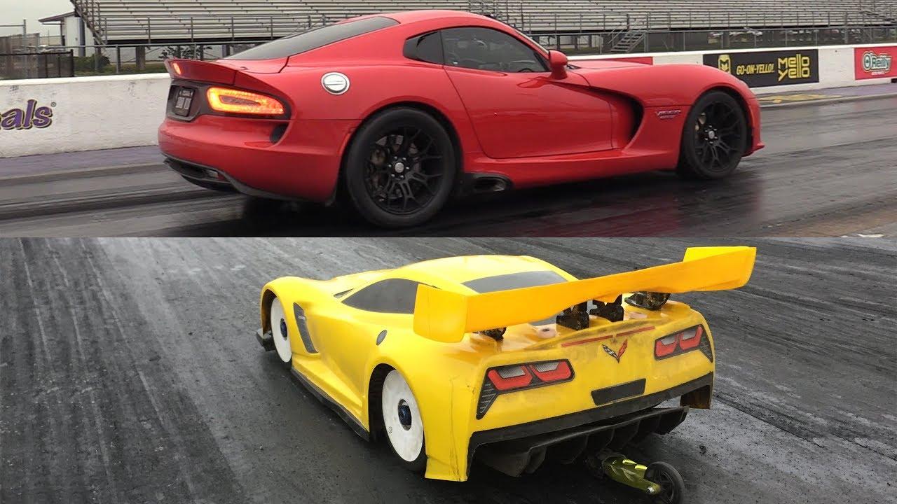 rc car drag race vs viper and hellcat youtube. Black Bedroom Furniture Sets. Home Design Ideas