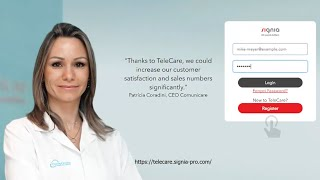 How to register in TeleCare Portal