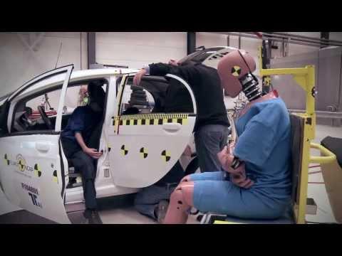Euro NCAP - crash testing plugin electric vehicles - Mitsubishi i-MiEV crash test