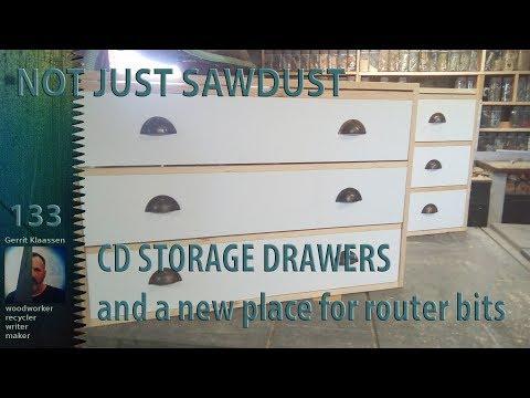 Making CD storage drawers