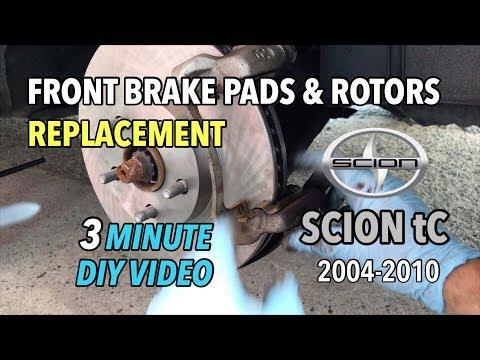 Scion tC Front Brake Pads & Rotors Change - 2004-2010 - 3 Minute DIY Video
