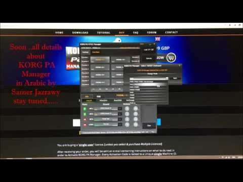 KORG PA Manager soon  Video Tutorials in...