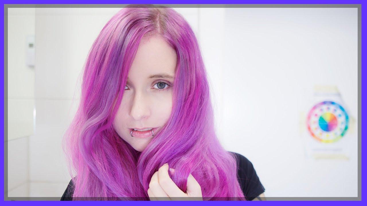 Haare Pink tönen mit Directions Rose Red und Violet - YouTube