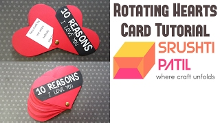 Rotating Hearts Card Tutorial by Srushti Patil