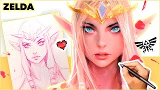 Ross Draws Princess ZELDA (Portrait Painting)