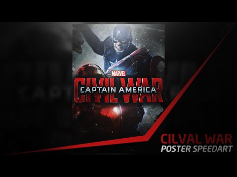 'captain-america:-civil-war'---photoshop-poster-speedart