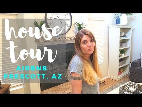 HOUSE TOUR // PRESCOTT ARIZONA AIRBNB // CLEANING MOM - 동영상