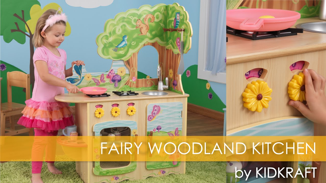 Children\'s Fairy Woodland Kitchen - Toy Review - YouTube