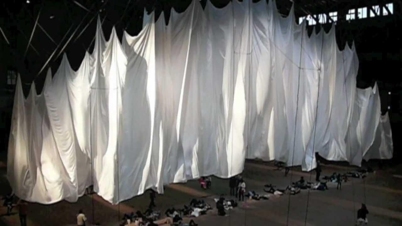 Custom Sewn 335 Curtain For Ann Hamilton Art Exhibit